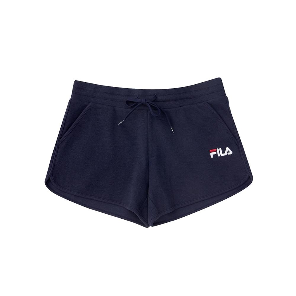 FILA 女針織短褲-丈青 5SHV-1510-NV