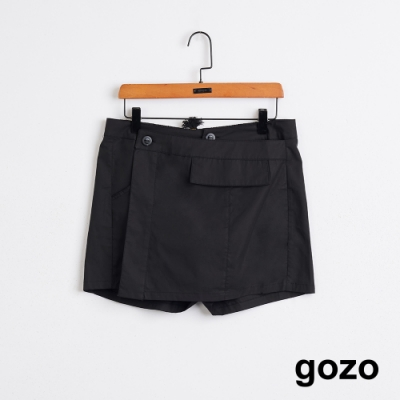 gozo-率性後鬆緊短褲裙-(二色)