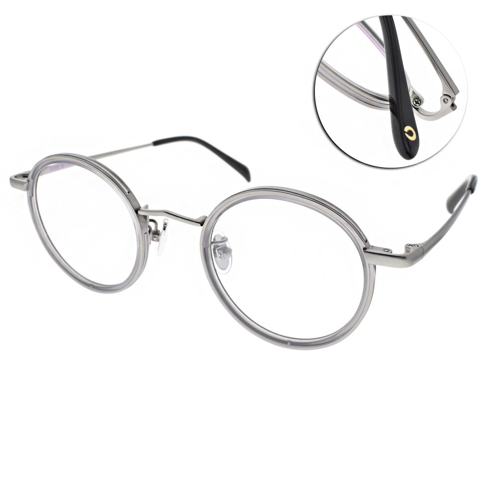 NINE ACCORD眼鏡 韓系圓框/灰-銀 #TI ELLY C04