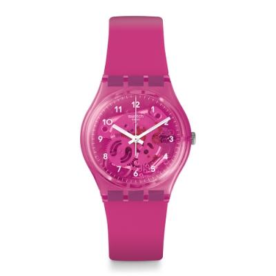 Swatch 原創系列手錶 GUM FLAVOUR 糖果桃紅-34mm