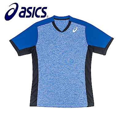 Asics 亞瑟士 男女排羽球短袖T恤 藏青 K31839-50