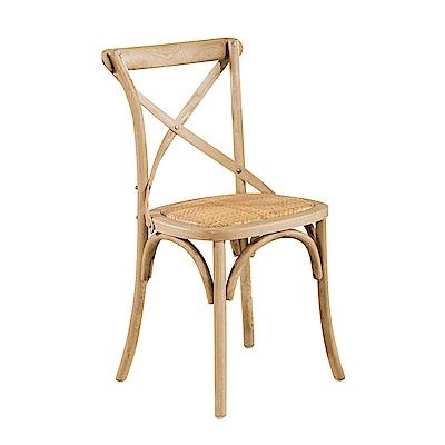 AS-西西里白橡木餐椅(2入組)-54x52x89cm