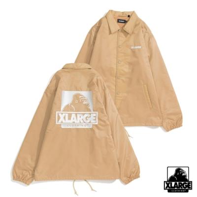 XLARGE EMBROIDERY OG COACHES JACKET防風外套-米色