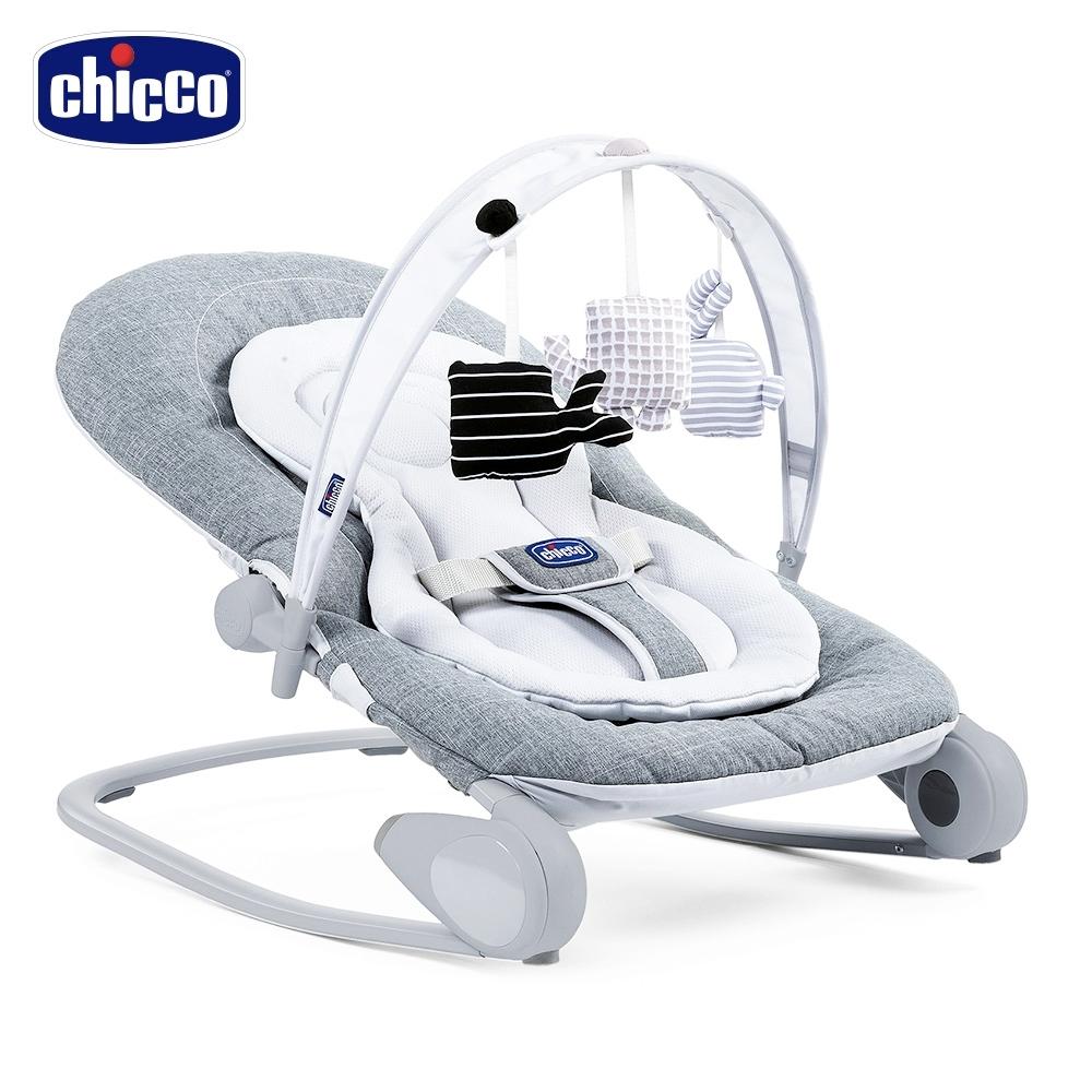 chicco-Hoopla可攜式安撫搖椅-金屬鈦灰