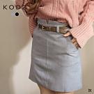 東京著衣-KODZ 清新可人小V字附腰帶西裝短裙-S.M.L(共二色)