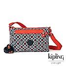 Kipling 多彩地中海幾何印花肩背包-NEW DIANE