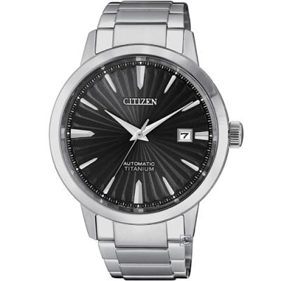 CITIZEN 鈦金屬機械男錶(NJ22180-89H)40mm