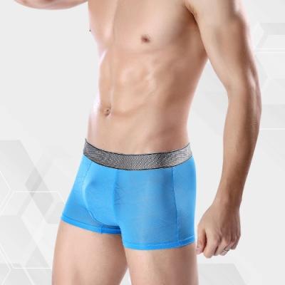 男內褲 涼感冰絲超輕薄織紋男內褲 天空藍 L-3XL ThreeShape