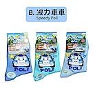 (任選)台灣製造卡通短襪1雙(波力車車系列15-18cm)