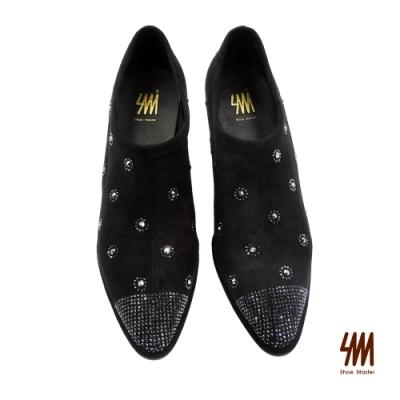 SM-超質感吸睛典雅大方中高跟短踝靴-黑色 (兩色)