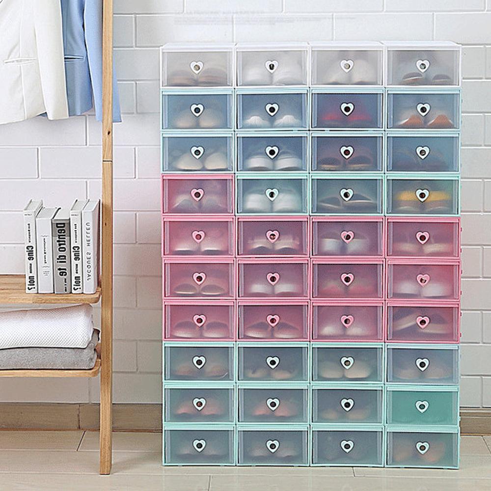 可視抽屜收納鞋盒(加厚加大版)6入組