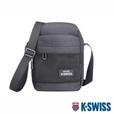 K-SWISS Travel Small Bag休閒斜背包-深灰