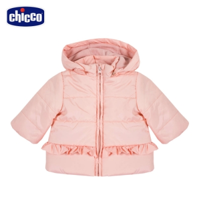chicco-TO BE Baby-舖棉活動帽長版外套
