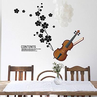 半島良品 DIY無痕壁貼-小提琴 AY934 45x60cm