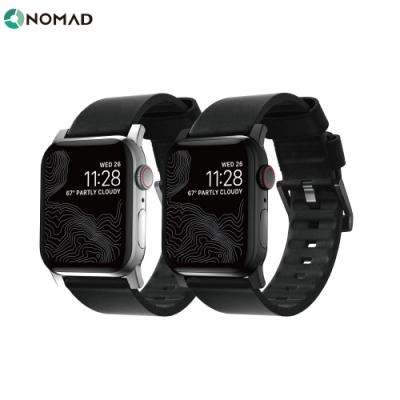 美國 NOMAD APPLE WATCH 專用防水機能皮革錶帶-44/42mm-黑