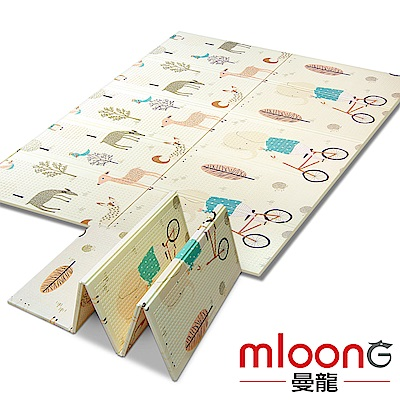 Mloong曼龍 XPE環保雙面折疊地墊 -森林大象 (爬行墊/摺疊墊/遊戲墊)