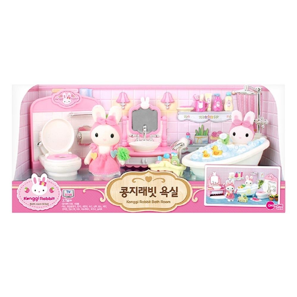 韓國 動物公仔 兔寶家族  - 夢幻浴室組