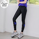 台灣製造~20%彈力纖維色塊拼接運動褲/瑜珈褲-OB大尺碼