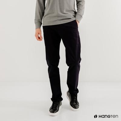 Hang Ten-男裝-STRAIGHT FIT直筒防皺褲-深藍色