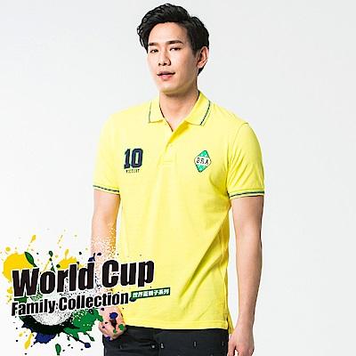bossini男裝-短袖圓領運動風POLO衫01黃