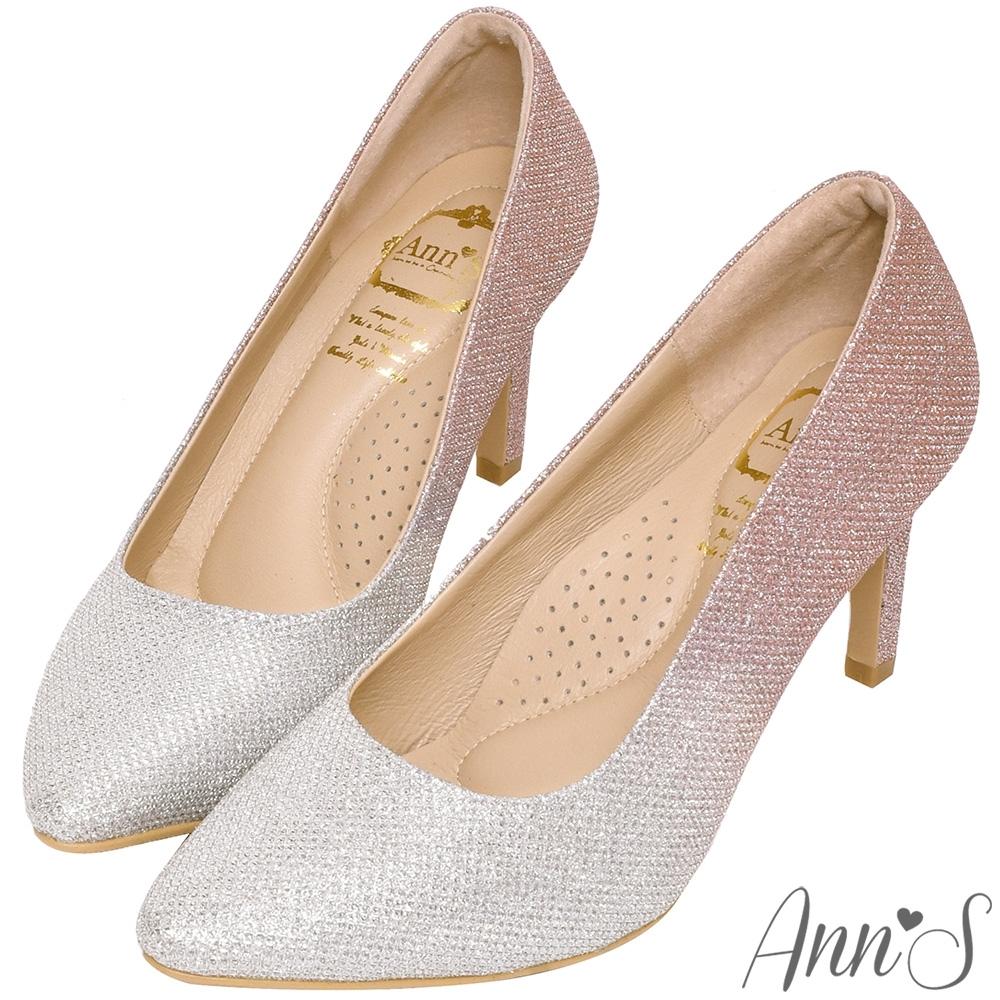 Ann'S無比氣勢2.0-軟質漸層亮片尖頭高跟鞋-粉