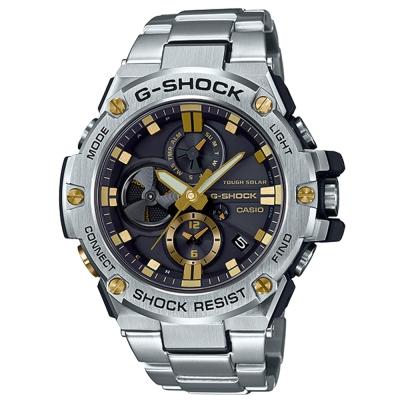 G-SHOCK創新突破分層防護結構智慧藍牙錶(GST-B 100 D- 1 A 9 )金時刻- 53 . 8 mm