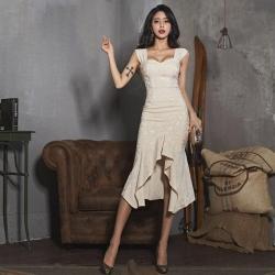 IMStyle 兩件式性感洋裝(白色)
