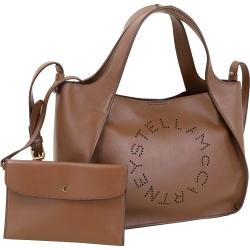 Stella McCartney穿孔字母皮革托特包