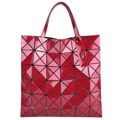 ISSEY MIYAKE 三宅一生 BAOBAO 6x6金屬光手提包-紅