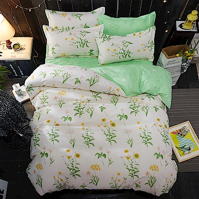 La Lune 台灣製經典超細雲絲絨雙人被套單人床包枕套3件組 清心趣