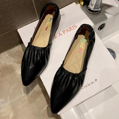 KEITH-WILL時尚鞋館 狂賣千雙好感印象百搭鬆緊尖頭鞋-黑