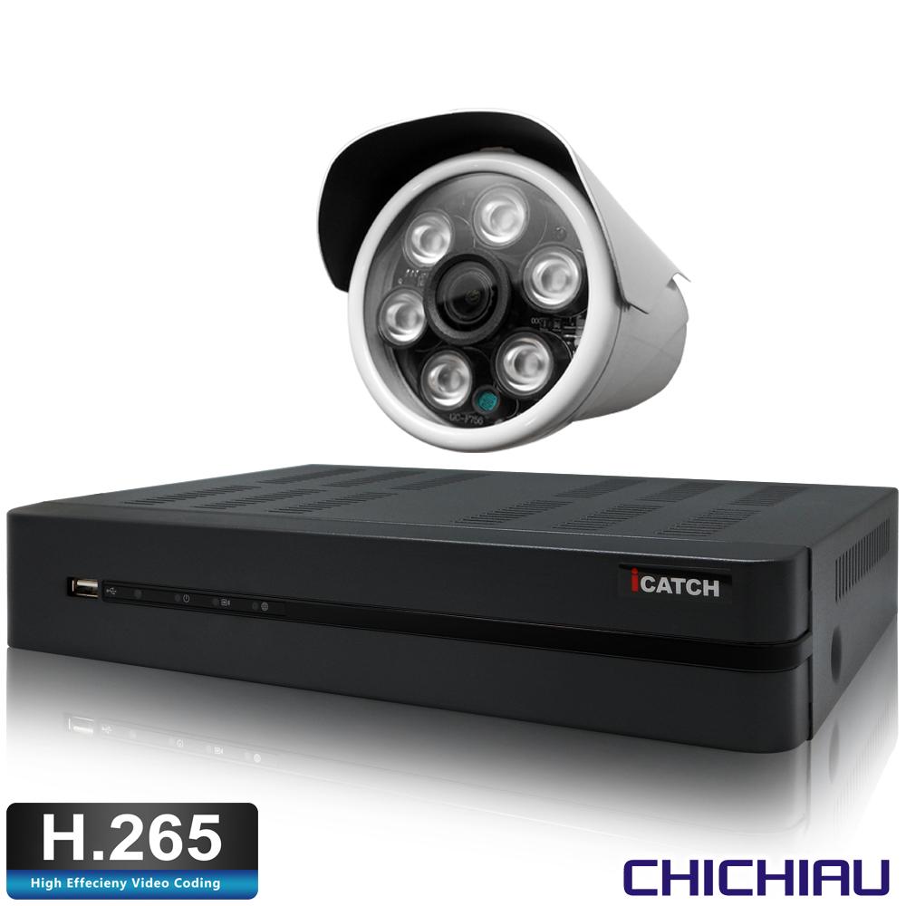 奇巧H.265 4路5MP iCATCH監控組含台製SONY1080P鏡頭*1