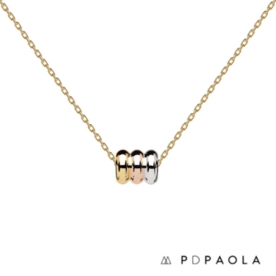 PD PAOLA 西班牙輕奢時尚品牌 極簡三部曲925純銀鍍18K項鍊