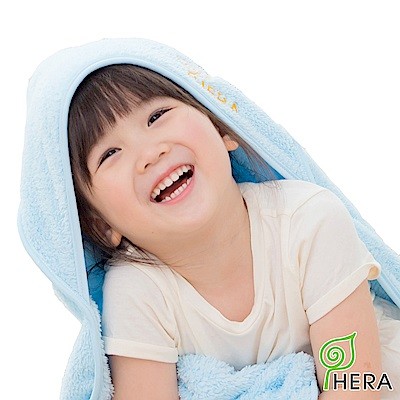 HERA 3M專利瞬吸快乾抗菌超柔纖 嬰幼童連帽巾-晴空藍