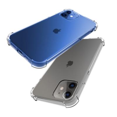 iPhone 12 手機殼 透明 加厚四角 防摔防撞 四角氣囊手機殼 保護殼 (iPhone12手機殼 iPhone12保護殼 )