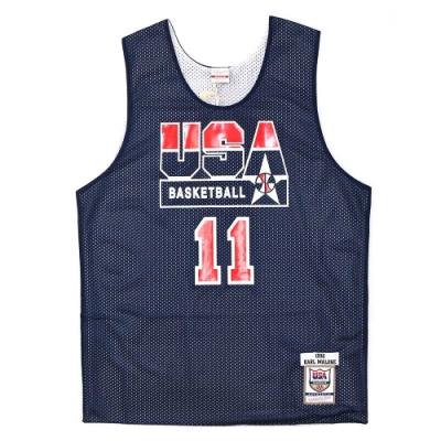 M&N Authentic球員版練習賽雙面球衣 92 Dream Team #11