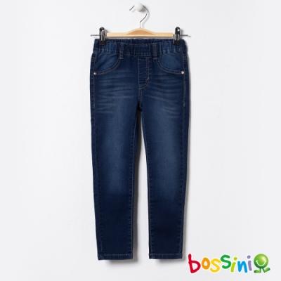bossini女童-彈性牛仔褲02牛仔藍