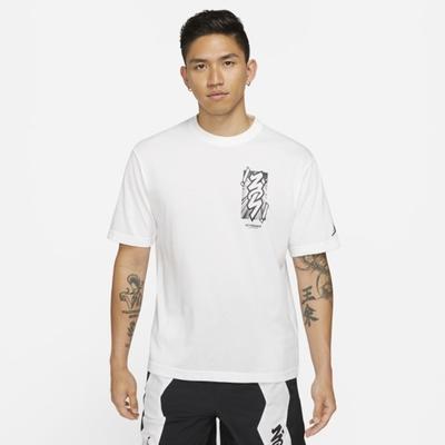 Nike  J ZION DF SS TEE 男短袖上衣-白-DH0593101