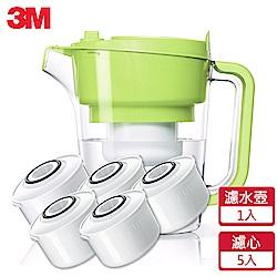 3M 即淨長效濾水壺WP3000-GR青蘋綠(1壺+5濾心)