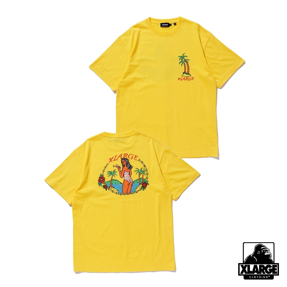 XLARGE S/S TEE PERMANENT VACATION 夏日假期短T-黃