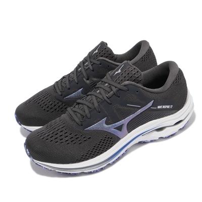 Mizuno 慢跑鞋 Wave Inspire 17 超寬楦 男鞋 美津濃 路跑 緩震 輕量 透氣 灰 藍 J1GC214593