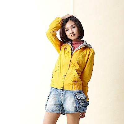 【TOP GIRL】連帽假兩件風衣外套-黃
