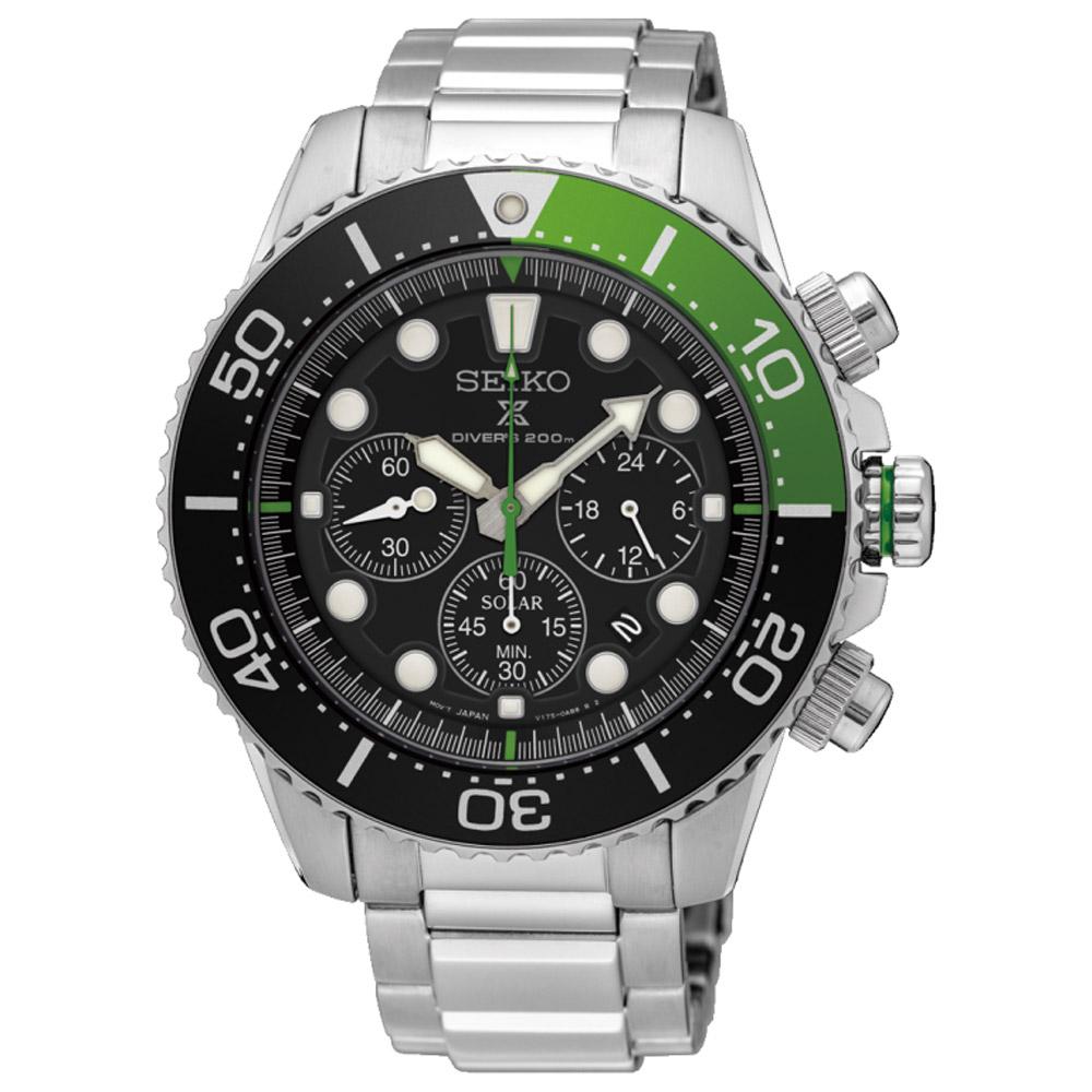 SEIKO精工 Prospex 愛護海洋太陽能計時潛水錶(SSC615P1)-43.5mm