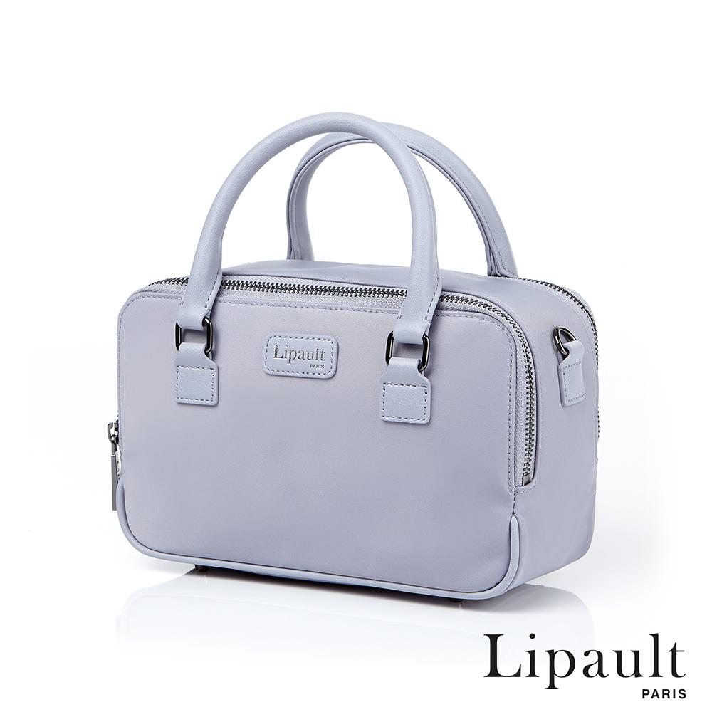 法國時尚Lipault Plume Basic玩色系列迷你尼龍方形托特包(銀灰色)