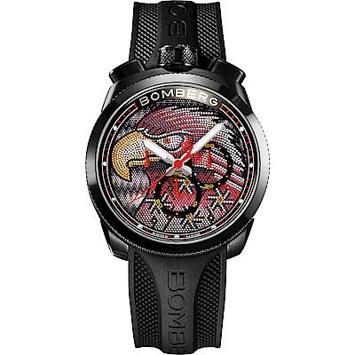 BOMBERG 炸彈錶 BOLT-68 石英紅色珍珠雄鷹錶-45mm