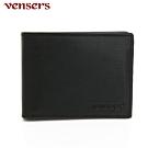 vensers 小牛皮潮流個性皮夾~(NB368201黑色短夾)