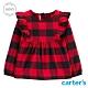 【Carter's】 美式格紋荷葉邊長袖洋裝 (台灣總代理) product thumbnail 1