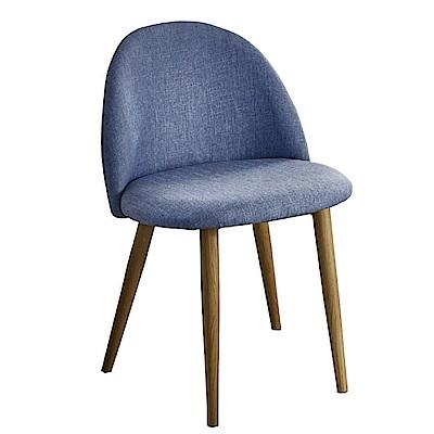 文創集 艾基時尚亞麻布造型餐椅組合(二入組+四色可選)-48x48x78cm免組