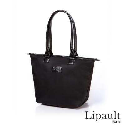法國時尚Lipault 肩背手提兩用托特包S(耀岩黑)