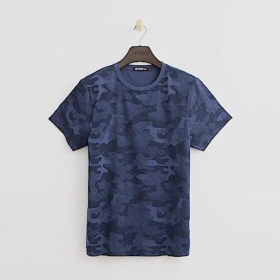 Hang Ten - 男裝 - 迷彩風T恤-藍色
